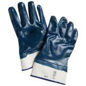 Γάντια NBR Μπλε με Μανσέτα